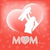 Silueta de una madre y de su niño EPS 10 Imagenes de archivo