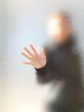 Silueta de una muchacha Imagenes de archivo