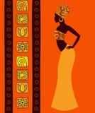 Silueta de una mujer africana hermosa Imagen de archivo