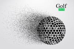 Silueta de una pelota de golf Ilustración del vector