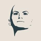 Silueta de una pista femenina Vista delantera de la cara Imagen de archivo