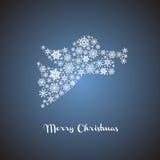 Silueta del ángel de la Navidad Imagen de archivo libre de regalías