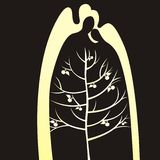 Silueta del árbol Imagenes de archivo