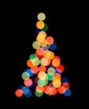 Silueta del árbol de navidad Fotos de archivo libres de regalías
