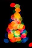 Silueta del árbol de navidad Imagen de archivo