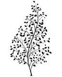 Silueta del árbol del vector - elemento gráfico ilustración del vector