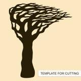 Silueta del árbol sin las hojas libre illustration