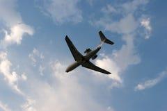 Silueta del aeroplano Fotos de archivo libres de regalías