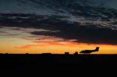Silueta del aeroplano Imagen de archivo libre de regalías