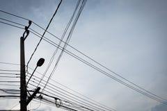 Silueta del alto voltaje Imagen de archivo libre de regalías