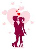 Silueta del amor Imágenes de archivo libres de regalías