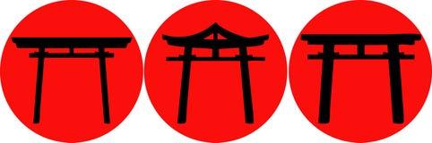 Silueta del arco de Asia. ilustración del vector