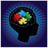Silueta del autismo de niño