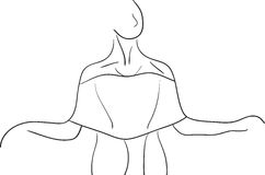Silueta del bailarín ilustración del vector
