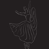 Silueta del bailarín stock de ilustración