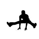 Silueta del bailarín de la rotura [01] Imágenes de archivo libres de regalías