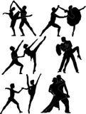 Silueta del ballet Stock de ilustración
