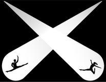 Silueta del ballet Imagen de archivo libre de regalías