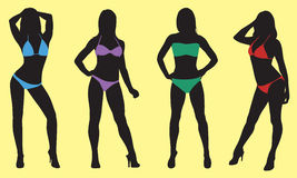 Silueta del bikini Fotografía de archivo libre de regalías