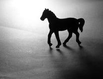 Silueta del caballo del juguete Fotos de archivo libres de regalías
