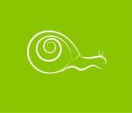 Silueta del caracol en verde Imagenes de archivo