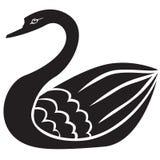 Silueta del cisne Fotos de archivo libres de regalías