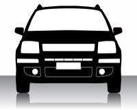 Silueta del coche Imagen de archivo libre de regalías