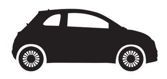 Silueta del coche compacto Foto de archivo libre de regalías