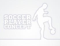 Silueta del concepto del futbolista del fútbol Imagen de archivo libre de regalías