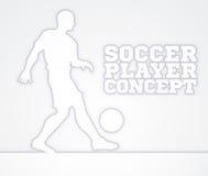 Silueta del concepto del futbolista del fútbol Foto de archivo