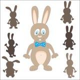 Silueta del conejo Juego de Pascua Encuentre la sombra correcta stock de ilustración
