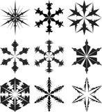 Silueta del copo de nieve   Imágenes de archivo libres de regalías