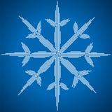 Silueta del copo de nieve Ilustración del vector stock de ilustración