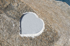 Silueta del corazón fotografía de archivo