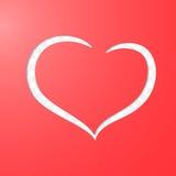 Silueta del corazón Foto de archivo libre de regalías
