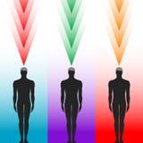 Silueta del cuerpo humano Imagenes de archivo