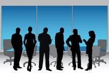 Silueta del ejecutivo de la sala de reunión Imagen de archivo