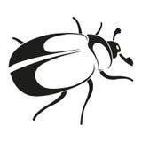 Silueta del escarabajo de mayo stock de ilustración