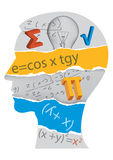 Silueta del estudiante de las matemáticas libre illustration
