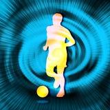 Silueta del fútbol Imagen de archivo
