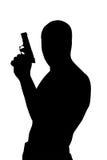 Silueta del gángster Foto de archivo libre de regalías