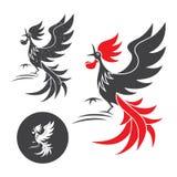 Silueta del gallo Imagen de archivo libre de regalías