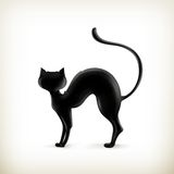 Silueta del gato Imagenes de archivo