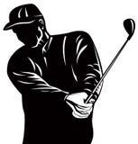 Silueta del golfista ilustración del vector