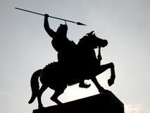 Silueta del guerrero Imagen de archivo