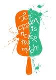 Silueta del helado colorido Foto de archivo libre de regalías