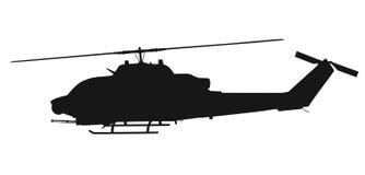 Silueta del helicóptero libre illustration