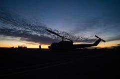 Silueta del helicóptero Foto de archivo