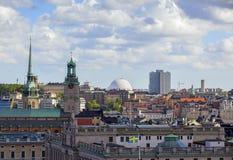 Silueta del hombre de negocios Cowering Estocolmo Imágenes de archivo libres de regalías