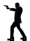 Silueta del hombre del asesino Foto de archivo libre de regalías